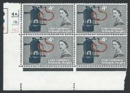 1965 Lister 4d (Ord) Dot Cylinder With 2 Varieties - MNH