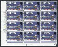 1967 EFTA 1/6 (Ord) Cylinder Block With Listed Flaw + Variety - MNH