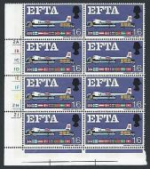 Sg 716pj EFTA 1/6 (Phos) Cyl Block With Listed Flaw + Variety UNMOUNTED MINT
