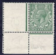 N14(-) ½d Pale Blue-Green unlisted Royal Cypher with Hendon cert UNMOUNTED MINT