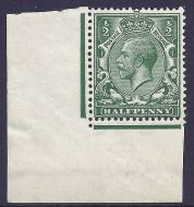 N14(1) ½d Green Royal Cypher with variety -solid shading to value UNMOUNTED MINT