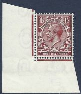 N18(-) 1½d Deep Chestnut unlisted with RPS cert UNMOUNTED MINT/MNH