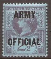Sg O44 2½d Blue ARMY Official overprint UNMOUNTED MINT/MNH