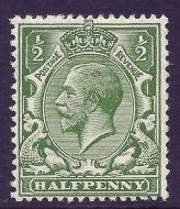 N14(8) ½d Yellow Green Royal Cypher UNMOUNTED MINT/MNH
