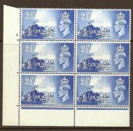 Sg C2 1948 Channel Islands Cylinder 4 No Dot perf type 6B(E/P) UNMOUNTED MINT