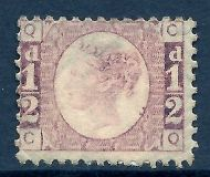 sg48 ½d Rose Red Plate 11 Lettered C-Q MOUNTED MINT