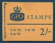sg N32pa 2/- Wildings GPO booklet with all panes Jan 1968 UNMOUNTED MINT/MNH