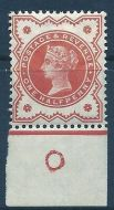 ½d Vermilion Jubilee control O worn imperf single MOUNTED MINT