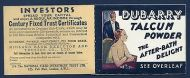 BC3 3/- 1936 Booklet Edition 322 - advert Dubarry Opera House UNMOUNTED MINT
