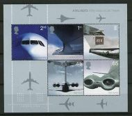 MS2289 2002 Airliners miniature sheet UNMOUNTED MINT/MNH