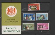 1970 General Anniversaries Presentation pack type A UNMOUNTED MINT