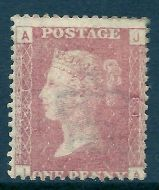 1d Penny Red plate 81 lettered J-A UNMOUNTED MINT/MNH