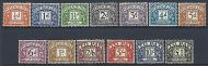 Sg D56 - D68 1959-63 Multiple Crowns Full set of Postage Dues UNMOUNTED MINT/MNH