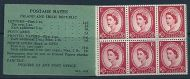 sg F1(b) 26 Wilding GPO Booklet Date error - May 195 GOOD PERFS UNMOUNTED MINT