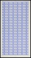 1949 GVI Universal Postal Union 2½d Complete Sheet *Lake in Asia* UNMOUNTED MINT
