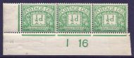 D1 ½d Royal Cypher Postage due Control I16 imperf UNMOUNTED MINT