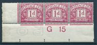 D2 1d Royal Cypher Postage due Control G15 imperf UNMOUNTED MINT
