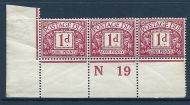 D2 1d Royal Cypher Postage due Control N19 perf UNMOUNTED MINT