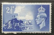 Sg C2a 1948 Channel Islands listed variety - Crown flaw QCom13a UNMOUNTED MINT