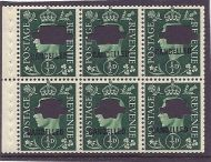 QB1s ½d Green booklet pane CANCELLED  punched UNMOUNTED MNT/MNH
