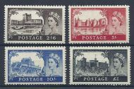 1955 Sg 536 - 539 Waterlow Castles all 4 values UNMOUNTED MINT