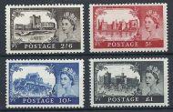 1967 Sg 759 - 762 No Watermark Castles all 4 values UNMOUNTED MINT