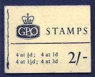 N18 2/- Oct 1964 Wilding GPO Booklet complete with all panes MNH