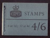 L68p 4/6 Sept 1967 Wilding GPO Booklet complete with all panes MNH
