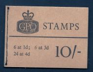X14 10/- GPO Wilding booklet - Nov 1966 trimmed perfs UNMOUNTED MINT/MNH