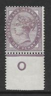 1d lilac control O perf single with jubilee line MOUNTED MINT