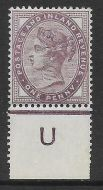 1d lilac control U perf single with jubilee line MOUNTED MINT