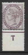 Sg 172 1d lilac control T perf Single UNMOUNTED MINT