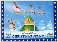 1987 Christmas Stamps Special pack with 36 x 2nd class (13p) Sealed pack