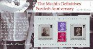 2007 Machin Anniversary miniature sheet Presentation pack no. 398