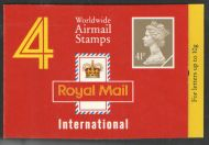 GN1 1993 Worldwide Airmail Booklet 4 x 41p - complete