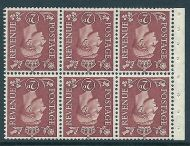 QB31a perf type I - 2d Pale Red Brown Booklet pane wmk inverted UNMOUNTED MINT