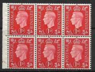 QB10A perf type B4B(E) cylinder F3 Dot -1d Red Booklet pane UNMOUNTED MINT/MNH