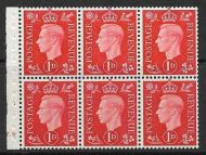 QB10A perf type B3(I) cylinder F9 No Dot -1d Red Booklet pane UNMOUNTED MINT/MNH