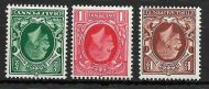 1934-36 Sg 439 - 441wi Photogravure Small Format Inverted set UNMOUNTED MINT