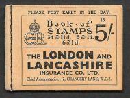 BC4 5/- 1936 Edward VIII Booklet - advert Dubarry Free Sample
