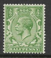 Sg 418 ½d Green Block Cypher with blob on back of head UNMOUNTED MINT/MNH