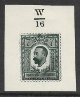 1910 7d Dark Slate-Green Essay - on White paper Control W/16 MOUNTED MINT