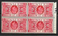 NComB6a 1d booklet pane perf E UNMOUNTED MINT/MNH
