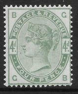Sg 192 4d Green from Lilac  Green issue UNMOUNTED MINT