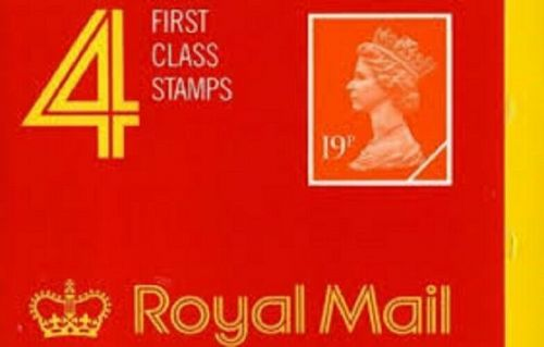 GD4 1988 4 x 19p 1st class stamps barcode booklet - Complete