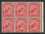 NB13a 1d Deep Scarlet Vermilion Block Cypher Wmk Inverted Perf P UNMOUNTED MNT