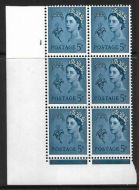 Sg XG10 5d Guernsey 2x9.5mm Chalky Cyl 1 No Dot perf FL (I/E) UNMOUNTED MINT