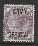 Sg O43 1d Lilac ARMY OFFICIAL overprint UNMOUNTED MINT