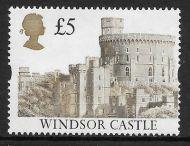 Sg 1611 £5 Harrison Castle misperf UNMOUNTED MINT MNH