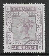 1883 Sg 178 2/6 Lilac Wmk Anchor Lettered G-E UNMOUNTED MINT